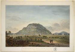 View of the N. face of the Fort, Gurramkonda, with a key attached